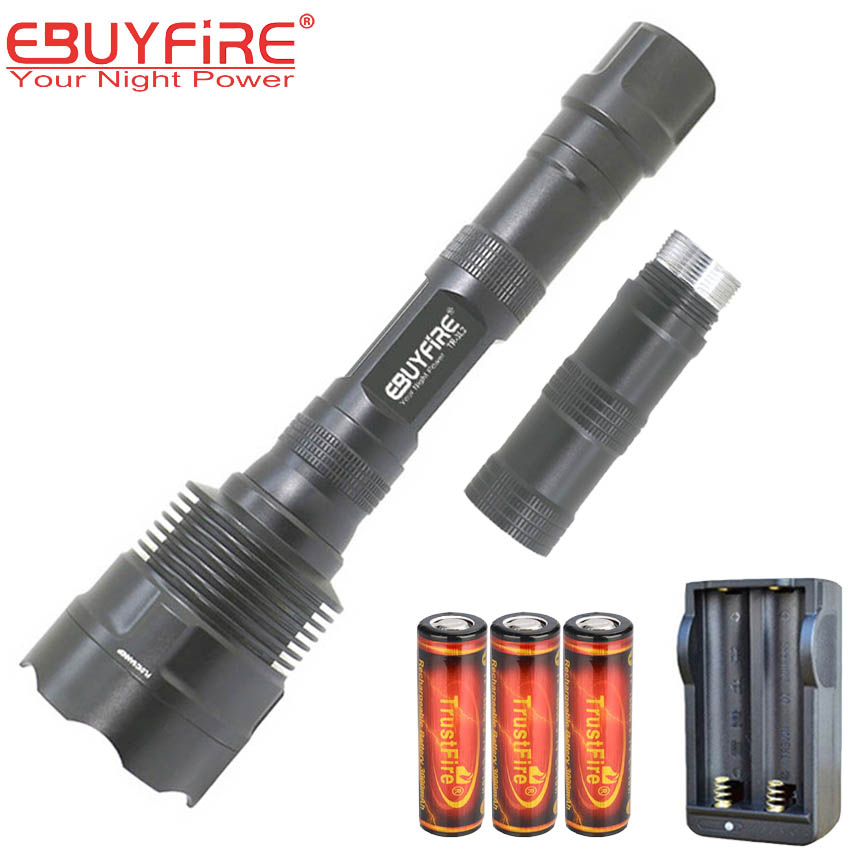 CREE 3L2 18650 Flashlight TR-3L2 Torch light 3& L2 glare high quality 3800 lumens lamp 5 Mode LED lightS with battery charger дополнительная фара gofl glare of light gl 0470 3311