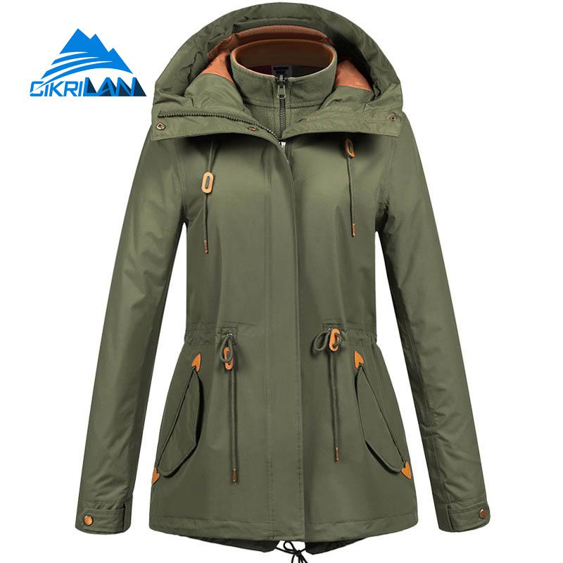 Ladies Winter 3in1 Water Resistant Climbing Outdoor Jacket Women Camping Fishing Ski Hiking Coat Windproof Fleece Liner Jackets
