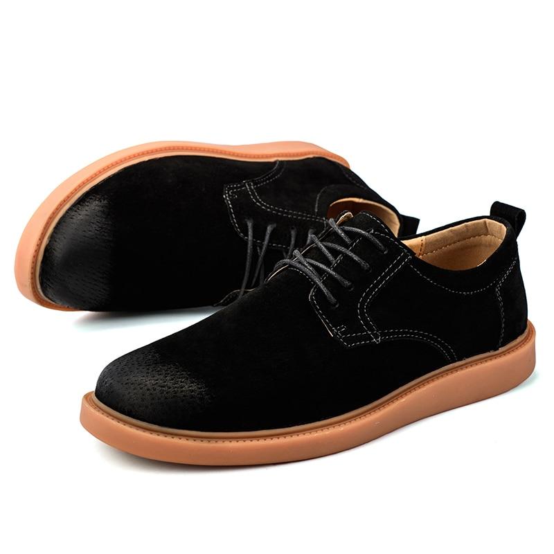 Zapatos Mode Britannique Chaude Faits Vmuksan De Hommes Chaussures yellow Hombre La Casual Printemps 2018 À Main gray En Cuir Lacets Vente Black Pnn5qpO