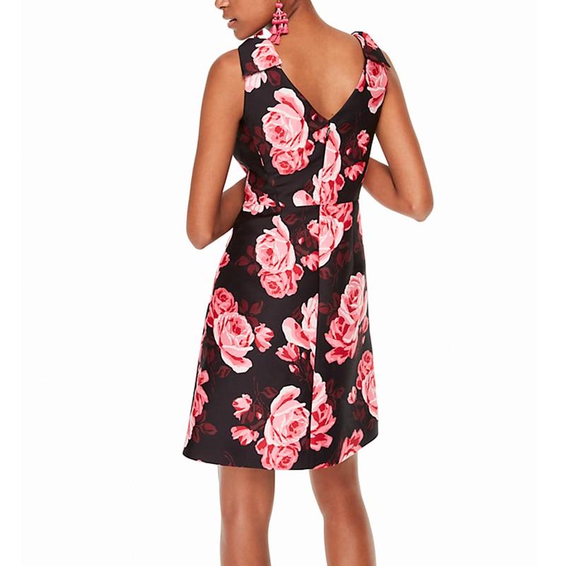 Une Rose Cou Rétro Personnaliser Imprimer Fait Sexy Sans Retour Ligne V Manches Fit Fleur Slim 3xs Femmes Vintage Taille Robe 10xl Plus aqawnfpAHx