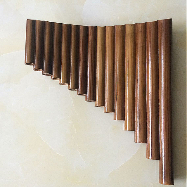 15 Pipes Handmade Bamboo Panflute G Key  Woodwind Musical Instrument Flauta Xiao Left & Right Hand  panpipes flute with dizi bag