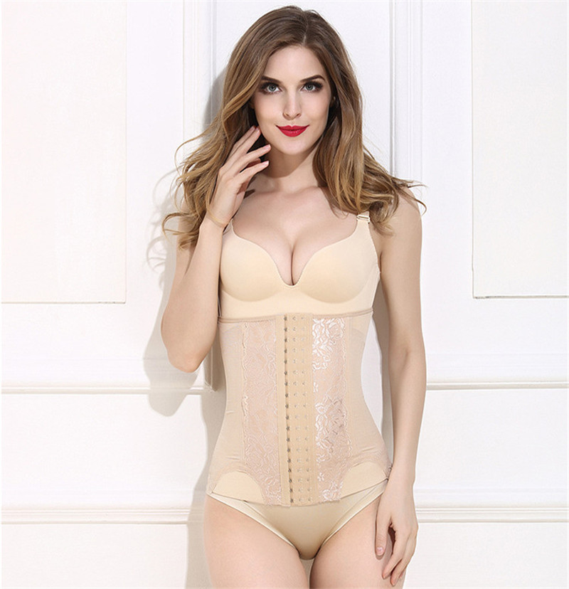 100pcs/lot Women Slimming Body Shaper Breathable Corset Waist Trainer Belt with Steel Bones Women Sexy Shapewear S-XXXL