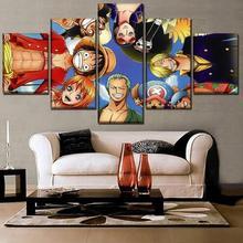5 Pcs Diamond Painting Cross Stitch  Anime One Piece Full Square 5D DIY Handmade Mosaic Home decor