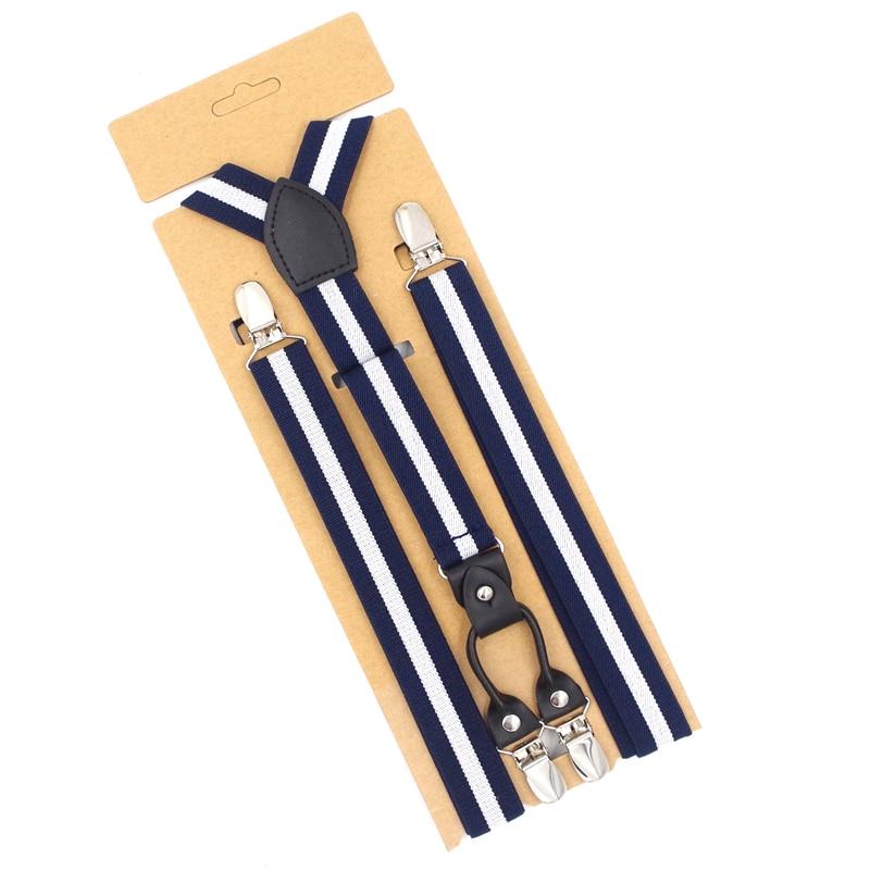 JIERKU Suspenders Man's Braces Leather 4Clips Suspensorio Tirantes Fashion Trousers Strap Grils Gift  Hombre