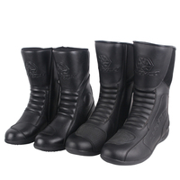 SCOYCO men women motorcycle racing boots motorbike Microfiber leather riding shoes Moto couple Motocross male female Shoes