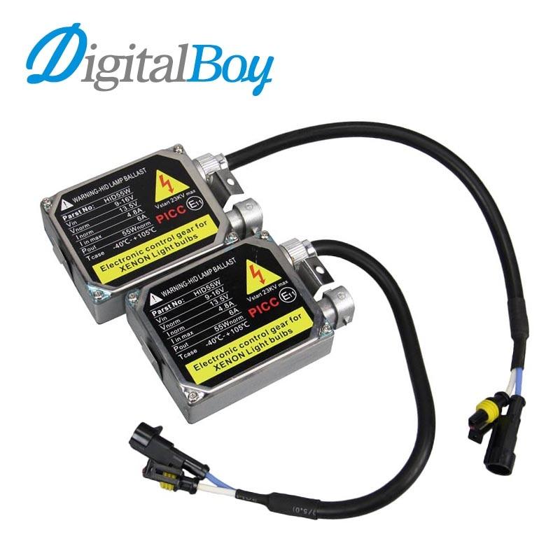 Digitalboy 55W HID Ballast 12V DC Xenon Blocks Electronic Ballast For Car H1 H3 H4 H7 H9/H11 881 9004/9007 9005 9006 Xenon Bulbs replacement 55w car hid ballast dc 9 16v