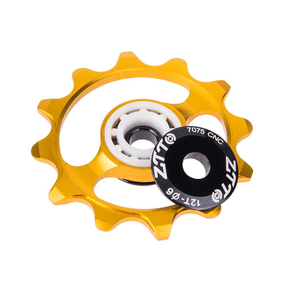 ZTTO 12T vtt vélo dérailleur arrière étroit large Jockey roue en céramique roulement poulie CNC Guide de vélo de route 4mm 5mm 6mm