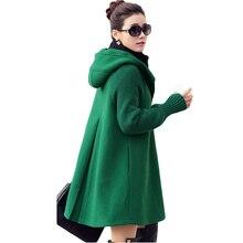Онлайн 4 Цвета Пальто С Капюшоном Воротник Длинный Рукав Дамы Пальто Однобортный Тонкий Осень Зима Женщины Шерстяное Пальто Плюс размер XH397