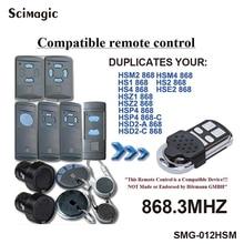 1 шт. 4 канала Hormann HSM4 868 МГц открывалка гаражных ворот совместима с Hormann HSM2, HSM4 868 МГц команда дистанционного управления дверями