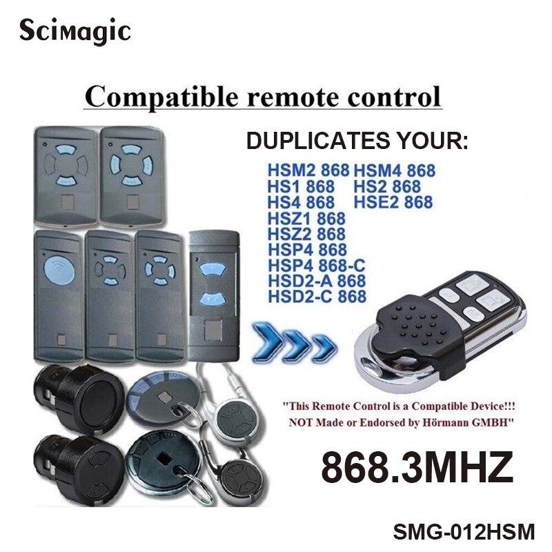 1PCS 4 kanaals Hormann HSM4 868 mhz garagepoort opener Compatibel met Hormann HSM2, HSM4 868MHz deur afstandsbediening commando