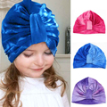 Newly Design Cute Gradient Color Soft Skullies Kids Baby Girl Hospital Bohemia Turban Hat  161006