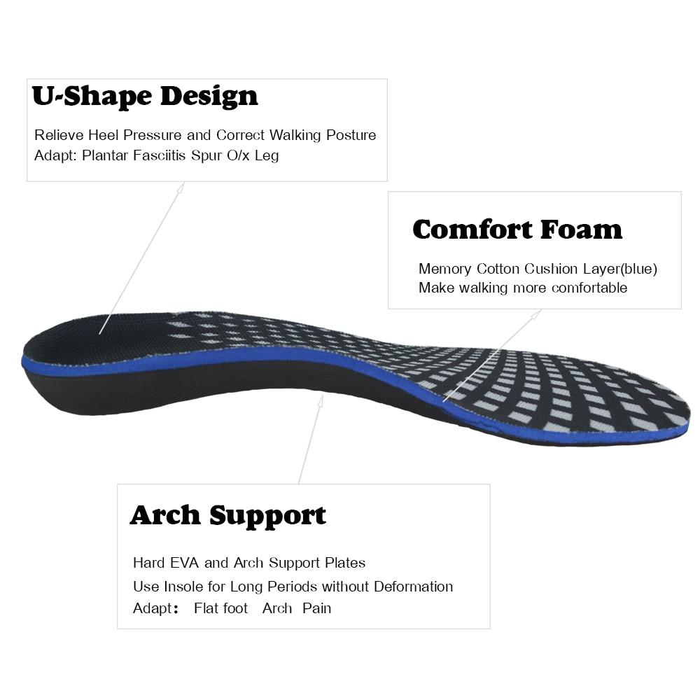 3D Premium Kualitas Tinggi Sol Orthotic O / X-kaki Berongga kaki Arch - Aksesoris sepatu - Foto 2