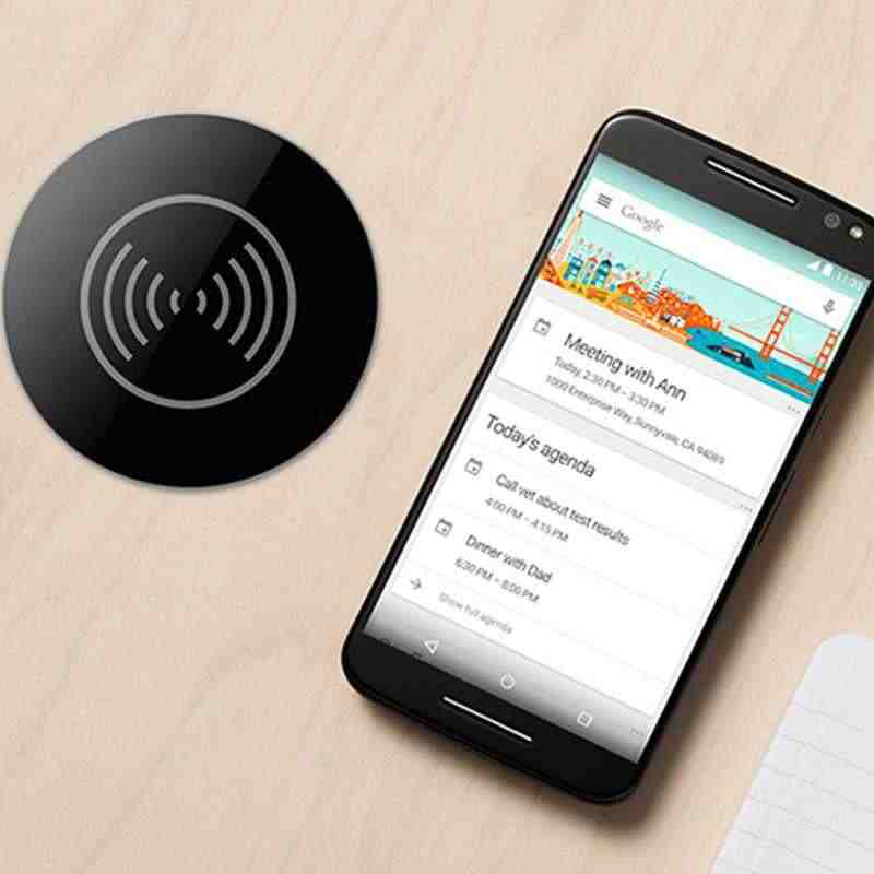 Cargador inalámbrico Qi para Iphone 8 X Xr Xs Samsung S9 S8 Nota 8 9 Muebles de oficina de escritorio de la tabla de la montado carga rápida Pad