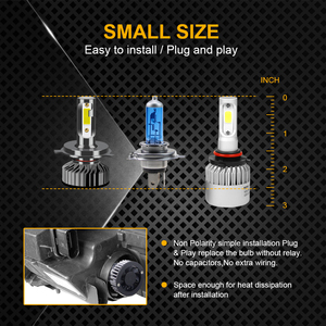 Image 2 - GEETANS H7 H4 LED Car Headlight H1 H3 H8 H11 LED 9005 HB4 9006 HB5 HB3 HB2 9003 9004 9007 Car Lights Bulb 6500K Canbus