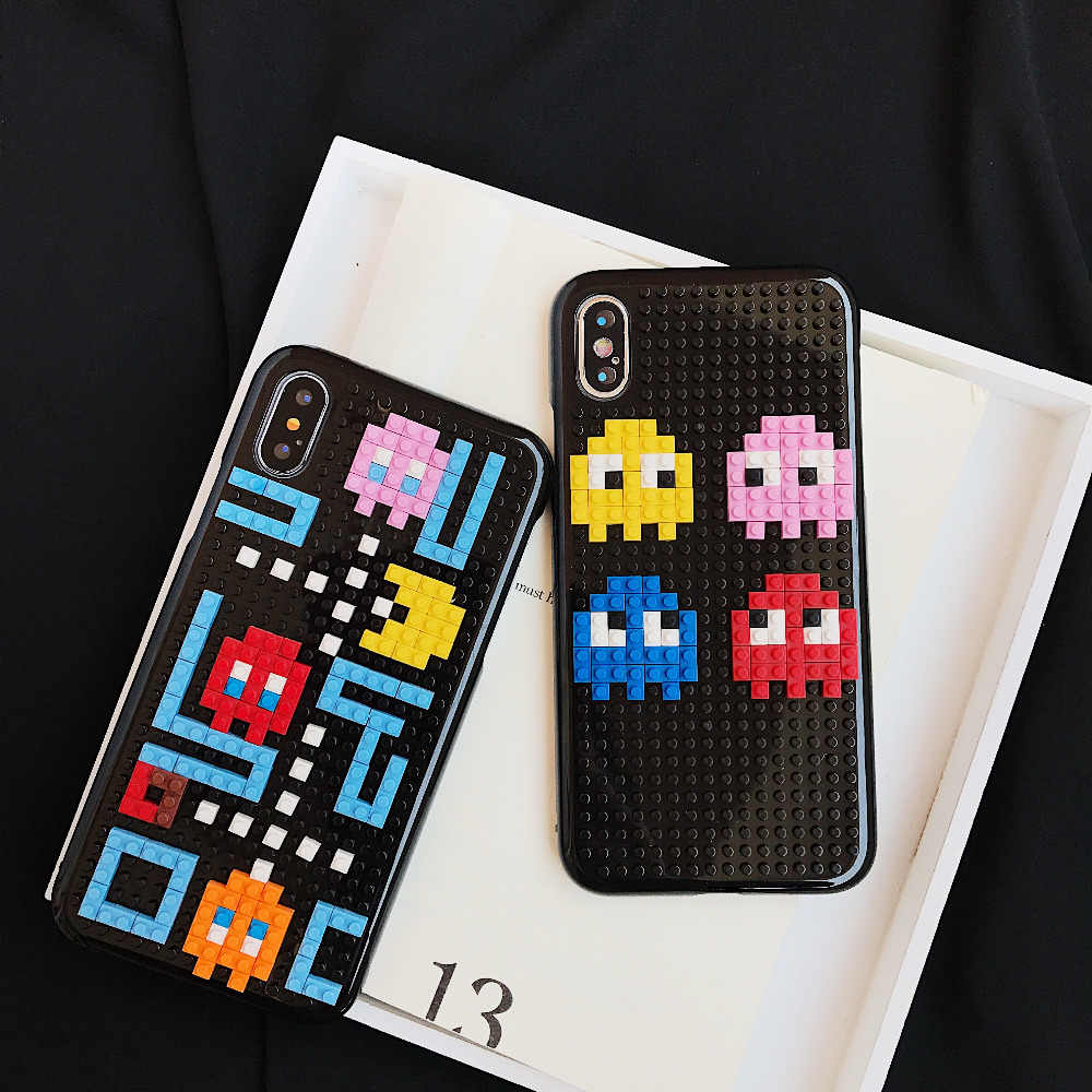 Diy Legos Block Toy Snake Phone Case For Iphone 7 X 8 6s Xr Plus Funny Handmade Plastic Cover 3d Cartoon Cases For S7 Edge Coque