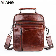 hot deal buy yiang retro shoulder bags for men oil wax leather crossbody bags high quality handbags small brand messenger travel bags
