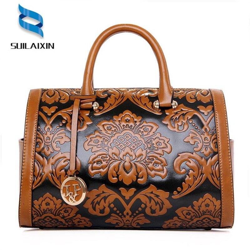 fc62d27fcac5 női designer bőr hobo boston táska Nagyméretű hímzés domborító ...