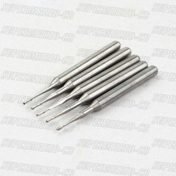 5 punte da 1,5 mm con punta a sfera in metallo duro con 2 flauti e fresa CNC di alta qualità 5 mm CEL (2Qx3.1.505x5)