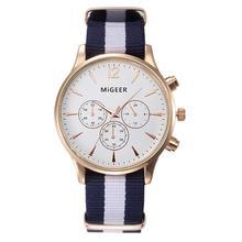 MIGEER Luxury Fashion Black & White Strap Watch Men Quartz Watch Casual Males Sport Business Wrist Men Watch,relogio masculino
