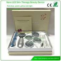 Bio Wave Red Blue Yellow Green Led Photon Light Skin Therapy Whitening Tightening Acne Treatment Facial