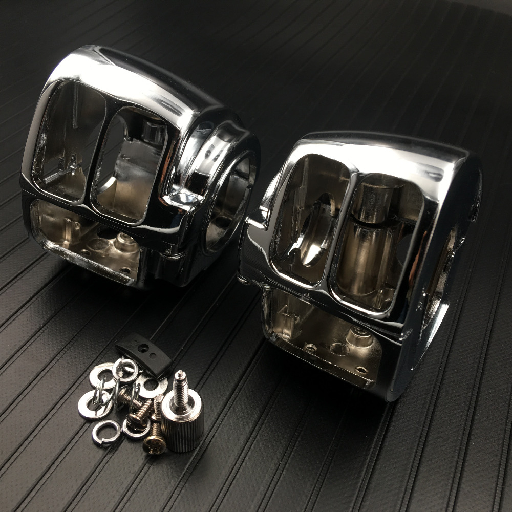 Devoted Chrome Silver Switch Housings Cover For Harley Electra Glide Flht Standard Classic 1996-later Street Glide Flhx Model 2006-later Automobiles & Motorcycles Covers & Ornamental Mouldings