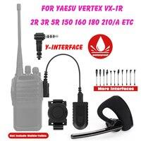 워키 토키 무선 블루투스 헤드셋 3.5mm 양방향 라디오 무선 헤드폰 이어폰 yaesu vertex VX-1R 2r 3r 5r 150 160
