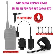 Walkie Talkie Wireless Bluetooth Headset 3.5MM Two Way Radio Wireless Headphone Earpiece For Yaesu Vertex VX-1R 2R 3R 5R 150 160