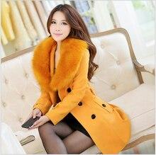 Korean Style New Winter Fashion Women Coat Heavy hair collar Thick Warm Woolen Coat Women Elegant Slim Big yards Coat G1961
