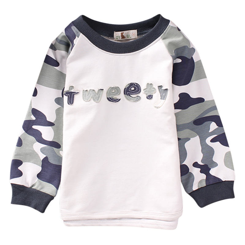 Toddler Infant Kids Baby Boys Clothing Set Fashion Camouflage Long Sleeve Shirt Hoodie + Camouflage Long Pants Boys Suit
