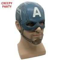 Kapitan Ameryka Maski Realistyczne Superhero Halloween Maska lateksowa Maska DC Movie Cosplay Costume Rekwizyty Zabawki