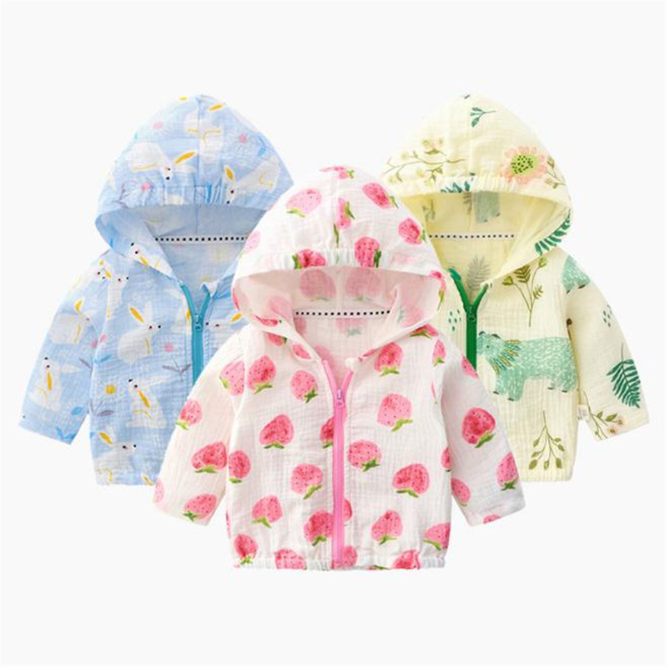 Shirts Jacket Sunscreen-Clothes Girls Baby Babies Summer Cotton Air-Conditioning Printing