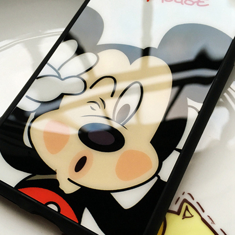 innovative design f4a87 cb9d1 US $1.87 6% OFF|JAMULAR Cartoon Mickey Minnie Mouse Silicone Mirror Case  For iphone 7 Plus 5s SE X Cases Cover For iphone 6 6s 7 8 Plus Cases-in ...
