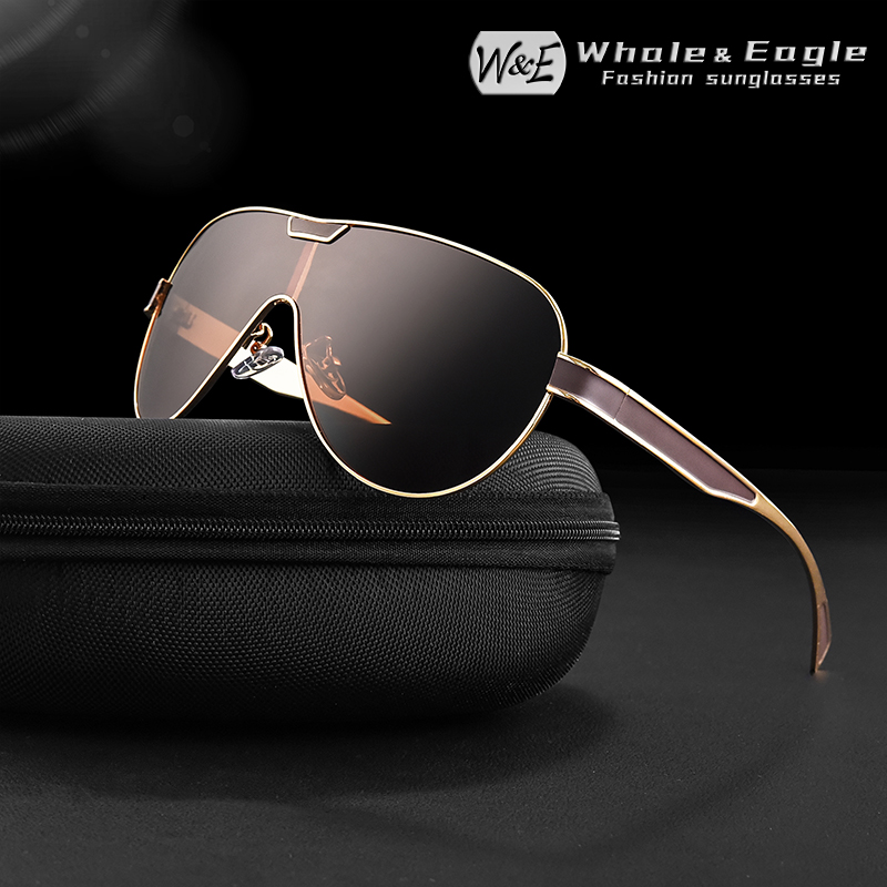 W&E Polarized Sunglasses Driving Mens Brand Designer Sports Glasses Womens Fashion Cool UV400