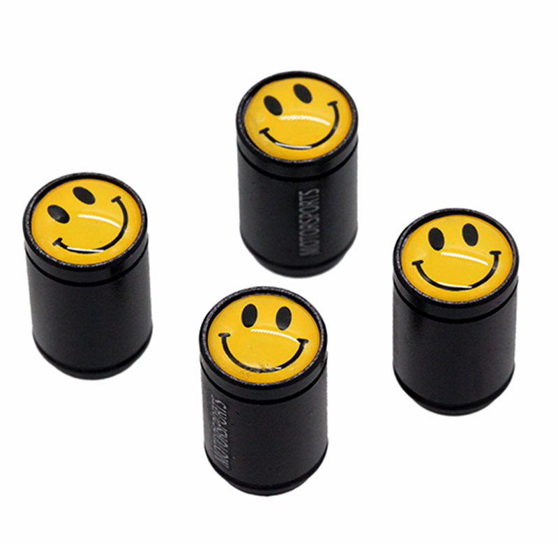 HAUSNN 4Pcs/Set National Flag Black Aluminum Alloy Polish Car Wheel Tire Valve Caps Auto Tyre Air Stem Covers Auto Styling
