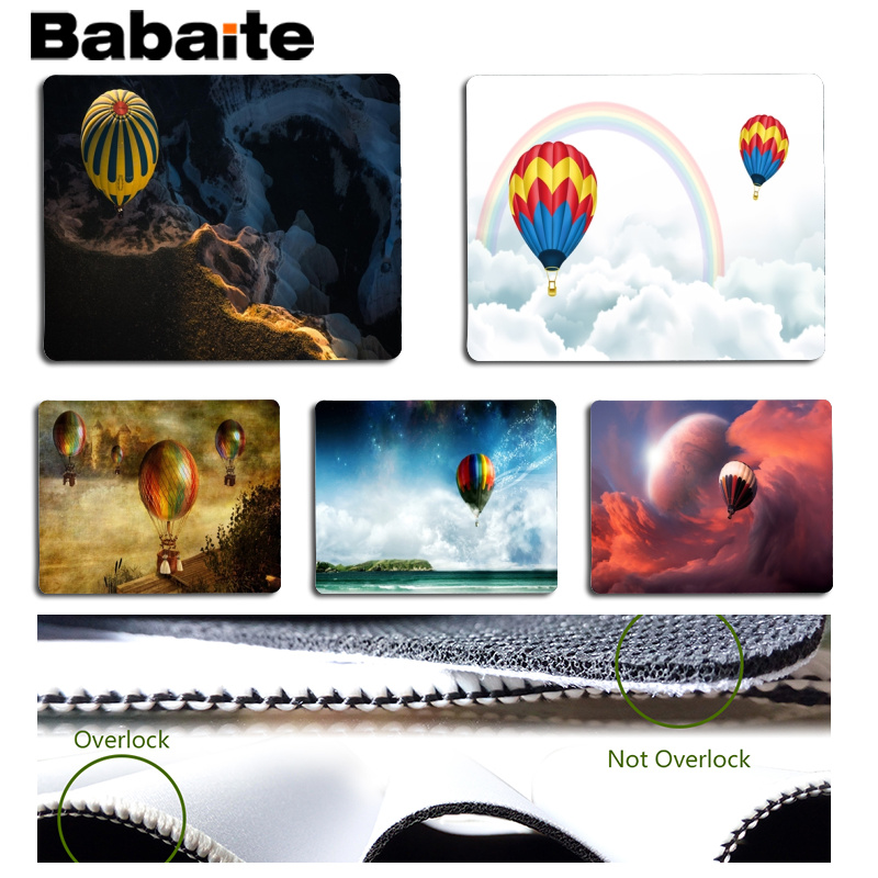 Babaite New Arrivals Hot Air Balloon Customized MousePads Computer Laptop Anime Mouse Mat Size for 180x220x2mm Mousepad