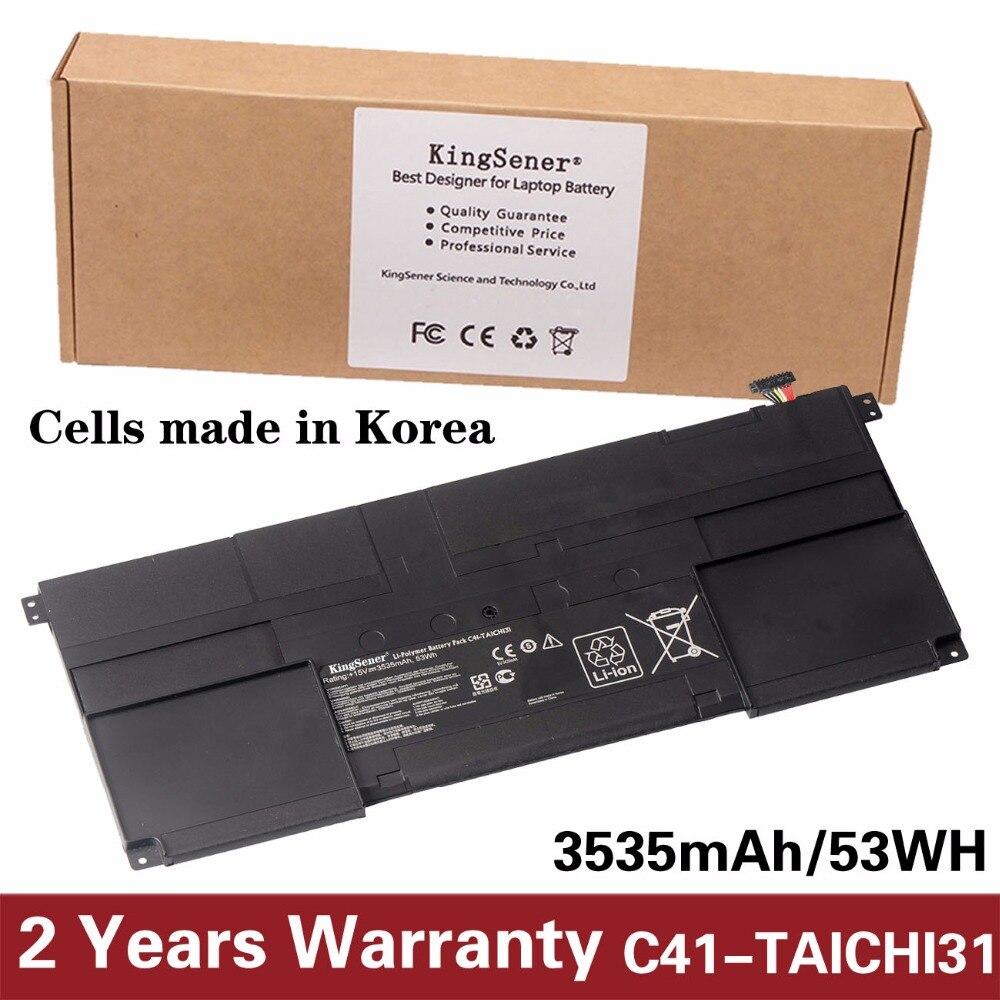 KingSener nuevo C41-TAICHI31 batería del ordenador portátil para ASUS Ultrabook TAICHI31 TAICHI 31 serie C41-TAICHI31 15 V 3535 mAh/53WH