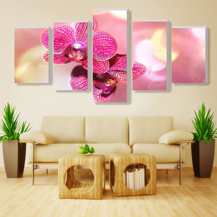 Modern Paintings Pink Butterfly Orchid Home Decor Wall Pictures For ...