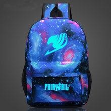Светящийся женский рюкзак с рисунком Феи хвоста школьная сумка