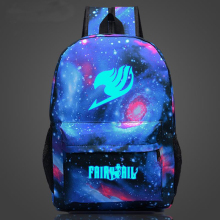 купить Luminous Fairy Tail Printing Women Backpack Anime School Bag Galaxia Rucksack Teenager Girl Cartoon Travel Nylon Daypack Mochila дешево