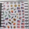 2 ШТ. K052 Ногтей Симпатичный Мультфильм Наклейка Флаг Стикер Искусства Ногтя