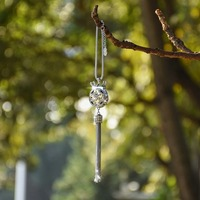 Crystal Crown Car Rear View Mirror Pendant Colorful Car Hanging Ornament Car Accessories Decoration