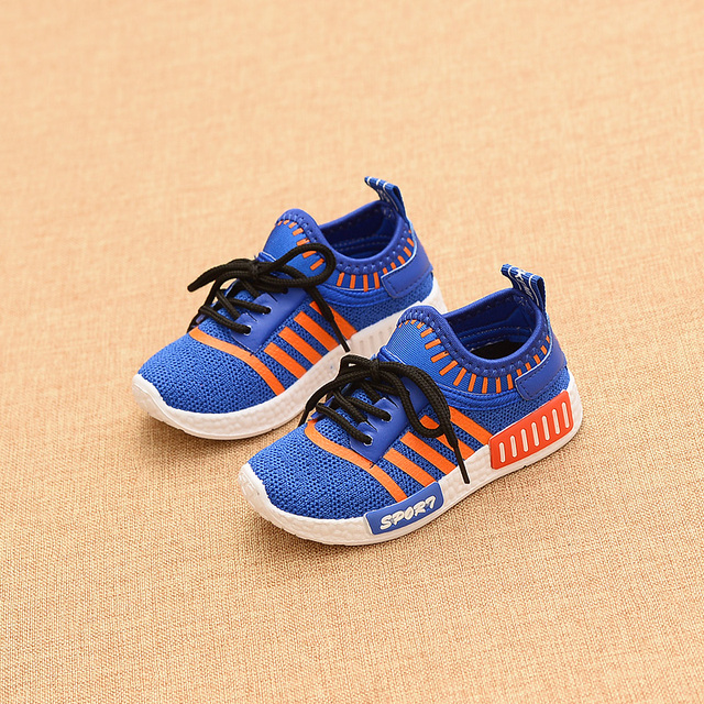 2016 New Autumn Outdoor Children Sport Shoes Air Mesh Breathable Running Shoes Soft and Slip Comfort Kids Sneakers High Quality