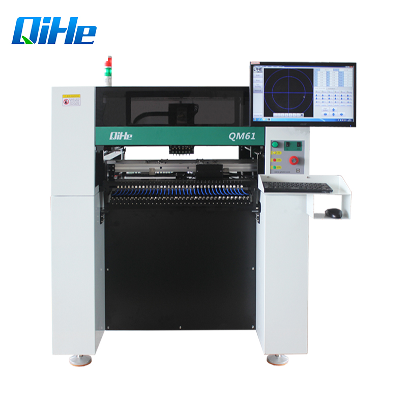 Automatic Qihe Pnp Machine QM61 PCB Assembly Line 63 Feeder SMD Pick And Place Machine Chip Mounter