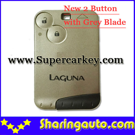цены  Free shipping 2 Button Remote Card Key Shell For Laguna With Grey Key(10pcs/lot)
