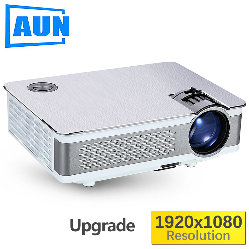 AUN Full HD Projector. AKEY5. 1920x1080P, Upgraded 3800-6000Lumen(Peak)  (Optional Android 6.0 LED Projector Support 4K, WIFI) aun new hd projector support wifi bluetooth built in android os 4 2 system 3d projector for home cinema led projector v5g5