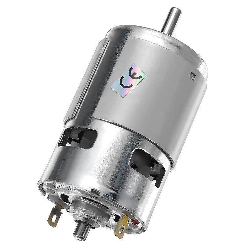 Dc 24 v 15000 rpm de alta velocidade grande torque dc 775 motor elétrico ferramenta elétrica novos motores & peças dc motor