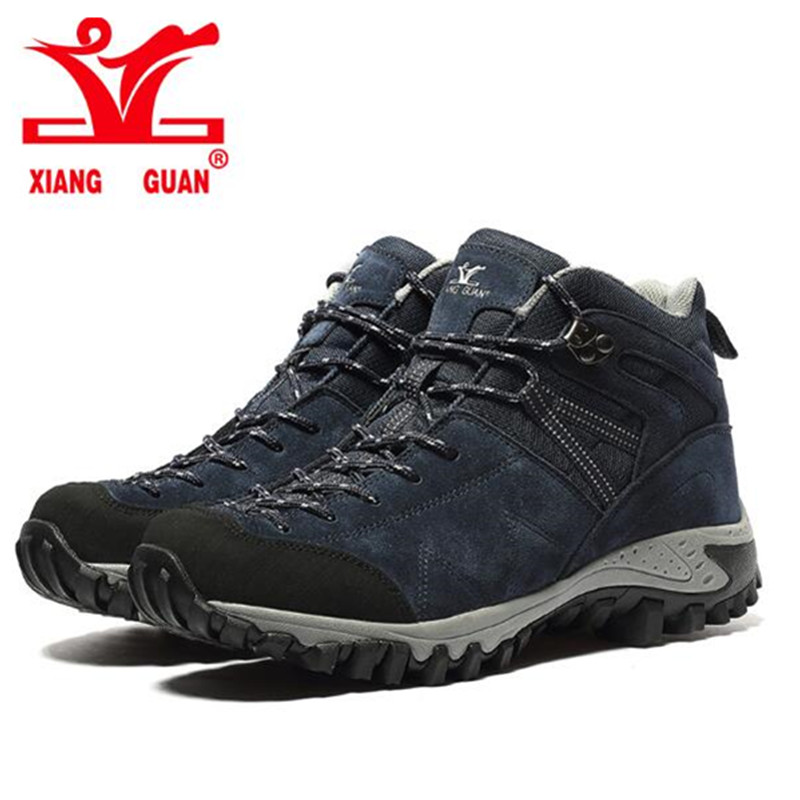 XIANGGUAN Climbing Shoes 2017 Man Outdoor Hiking Damping Breathable Blue Tactical Boots Protect Ankle Sneaker Men Sport Shoes free shipping 86hy c4 220v four way hesunse ir remote control switch for lighting exhibition hall black color
