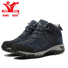 XIANGGUAN Climbing Shoes 2017 Man Outdoor Hiking Damping Breathable Blue Tactical Boots Protect Ankle Sneaker Men Sport Shoes