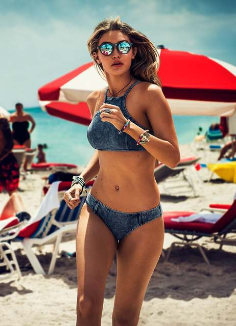 e21bf1e820 Online Shop New Sexy Style Denim Women Halter Bikini Push Up High Neck Plus  Size Swimsuit Two Piece Maillot De Bain Hot Sale Swimsuit