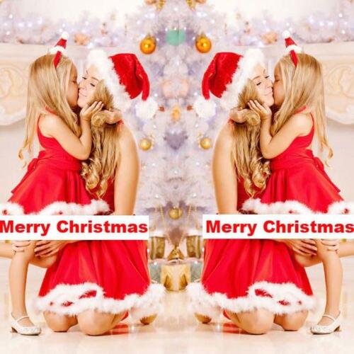 Emmababy мама и меня Семейные комплекты Рождество платья для мамы и дочки женские детские Обувь для девочек мини-платье ...